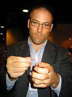 Pierre Grzybowski of HSUS demonstrates the burn test.