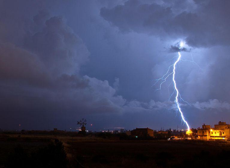 lightning in Palma de Mallorca, Spain