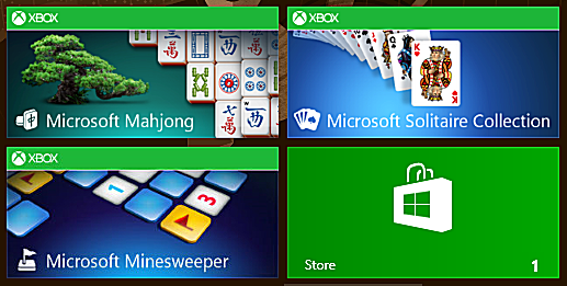 Windows 8 has updated versions of Microsoft's classic games.
