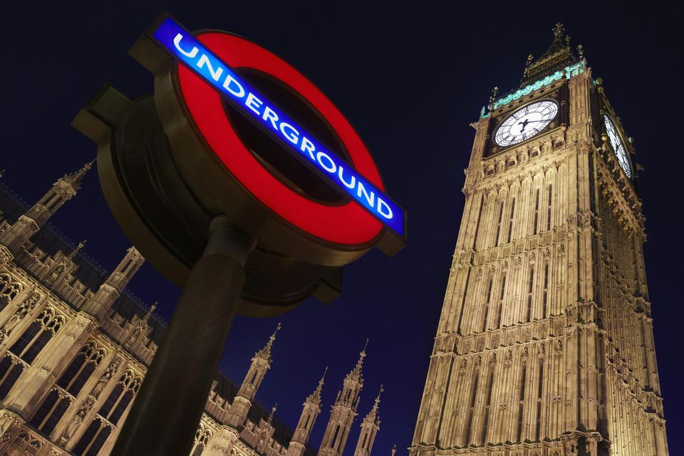 Underground station sign with Big Ben