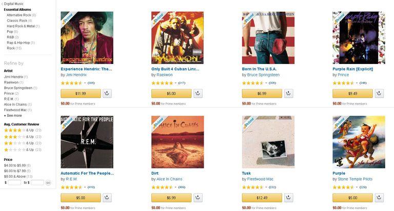 Amazon MP3 Screen