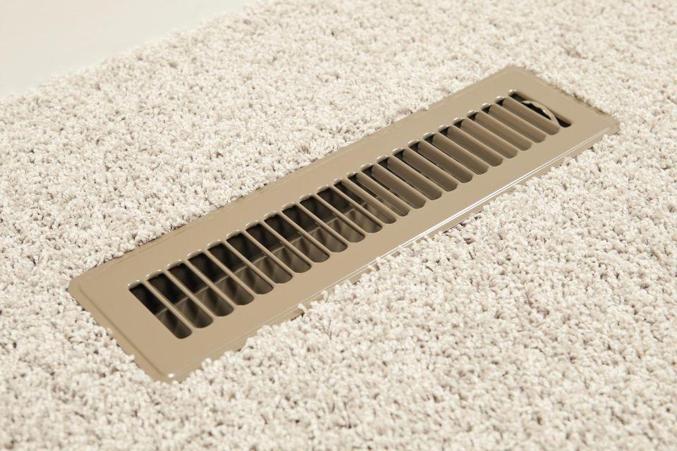 House HVAC Floor Vent Register