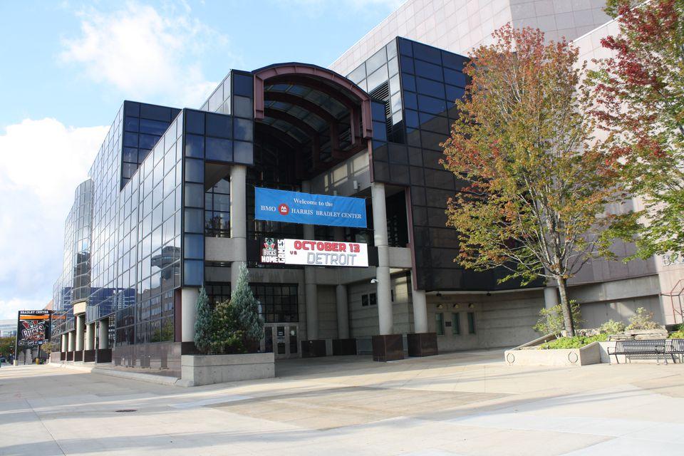 The Bradley Center, home of the Milwaukee Bucks.