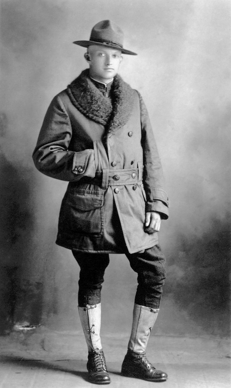 Doughboy Hugh A Ball photographed in 1918