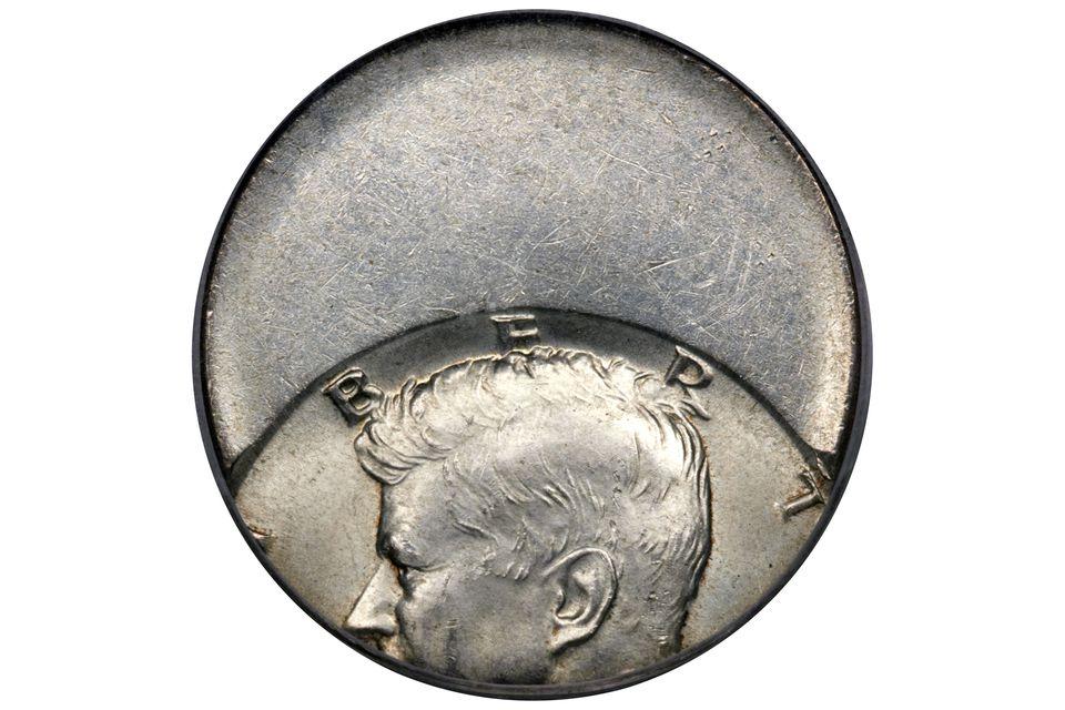 Kennedy Half-Dollar Struck Off-Center