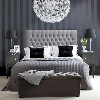 9 bedrooms show off the softer prettier side of gray bedroom ideas - Grey Bedroom Designs