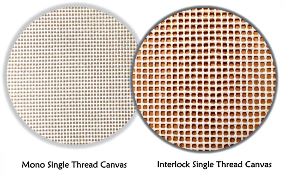 Samples of Single Thread Needlepoint Canvas