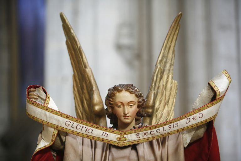 Statue of Gabriel in St. Etienne Cathedral