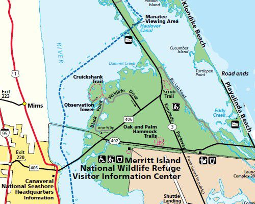 Directions And Maps For Floridas East Coast Beaches Including Playalinda Beach National Park Service