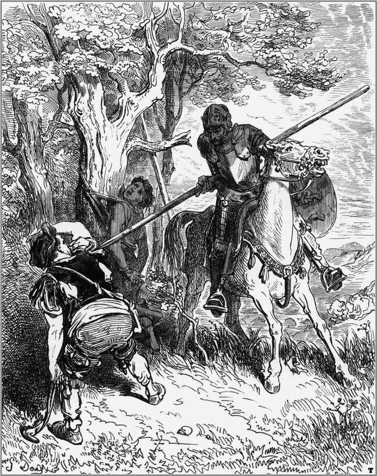 "Illustration 3 for Miguel de Cervantes's ""Don Quixote"" by Gustave Doré, 1863"