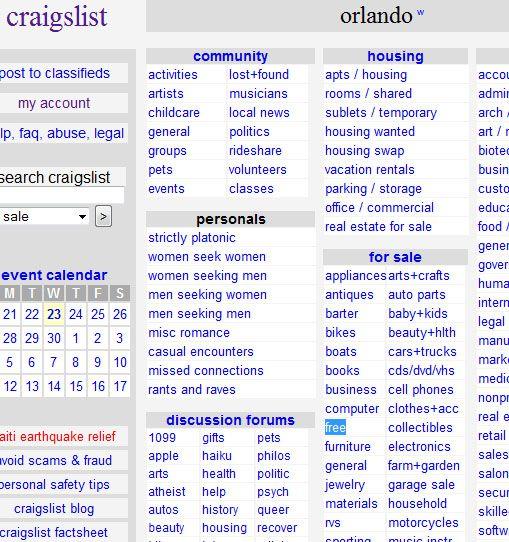 How To Find Free Stuff On Craigslist