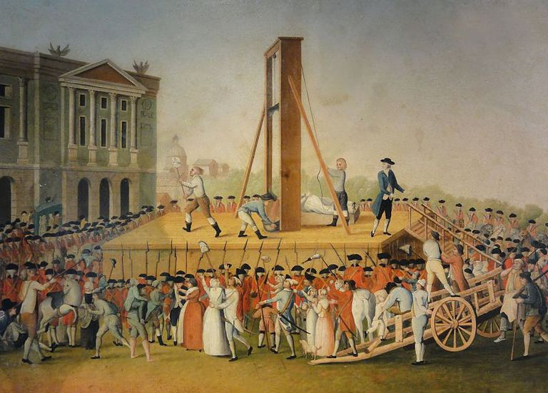 Marie Antoinette's execution on October 16, 1793