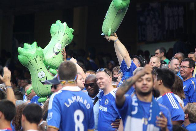 Chelsea fans' celery tradition