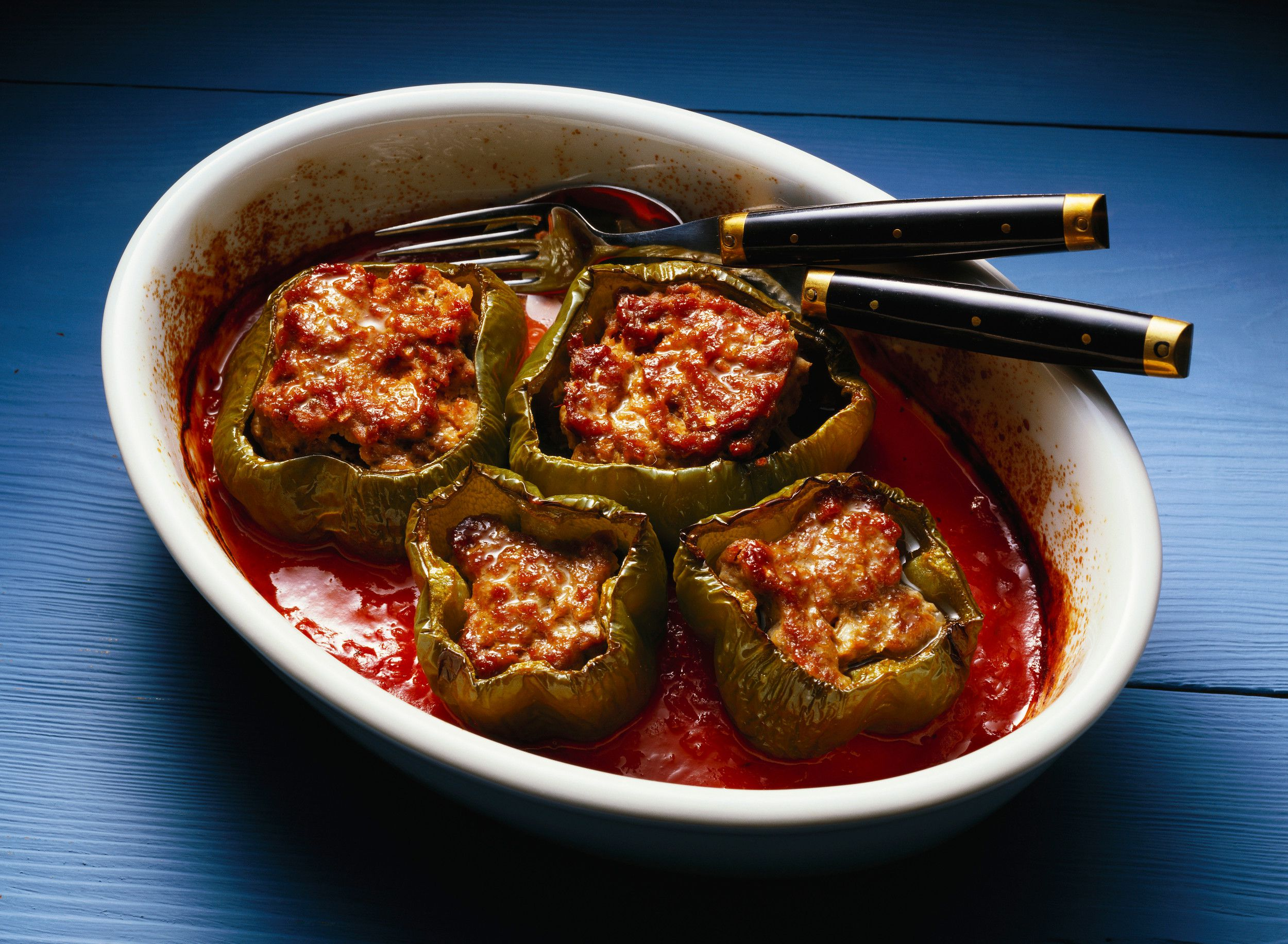 Stuffed Peppers With Beef Pork And Veal