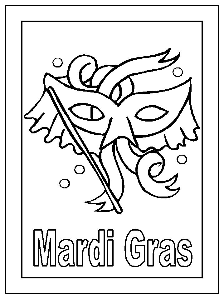 It is a picture of Punchy Mardi Gras Coloring Pages Free Printable