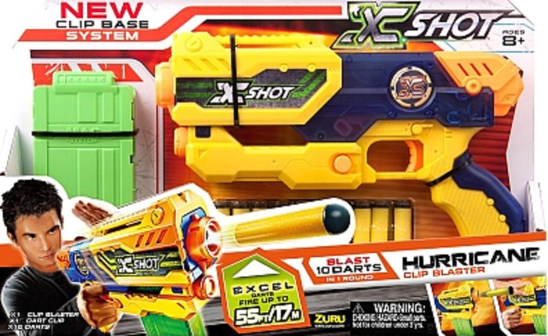 ZURU Toys X-Shot Hurricane Clip Blaster