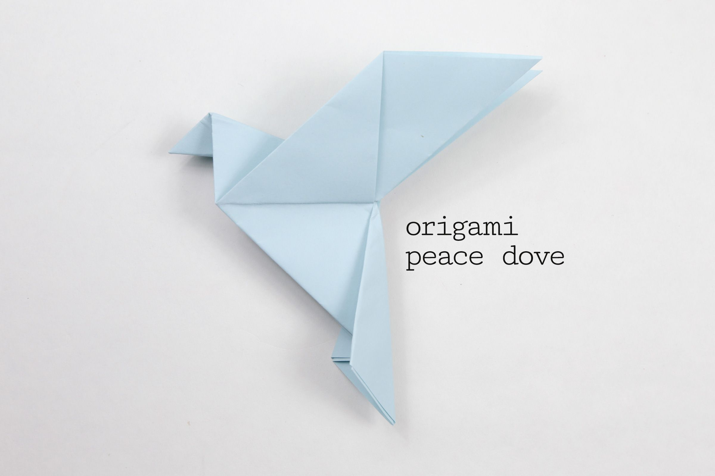 Origami Peace Dove Step-by-Step Instructions - photo#21