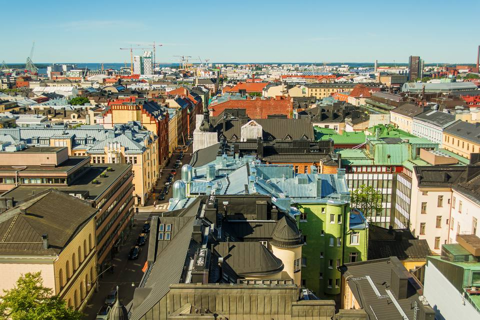 City skyline, Helsinki, Finland