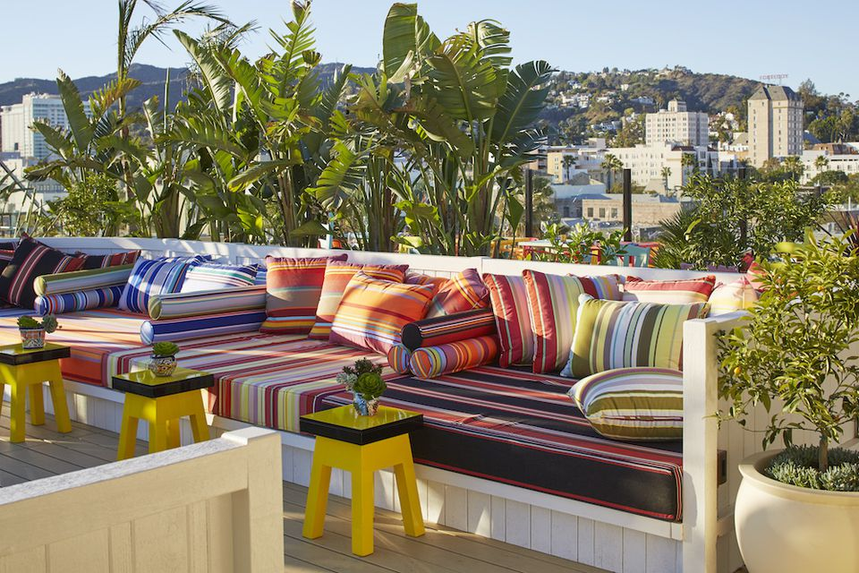 Rooftop at Mama Shelter hotel in Los Angeles