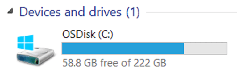 Free Disk Space in Gigabytes (GB)