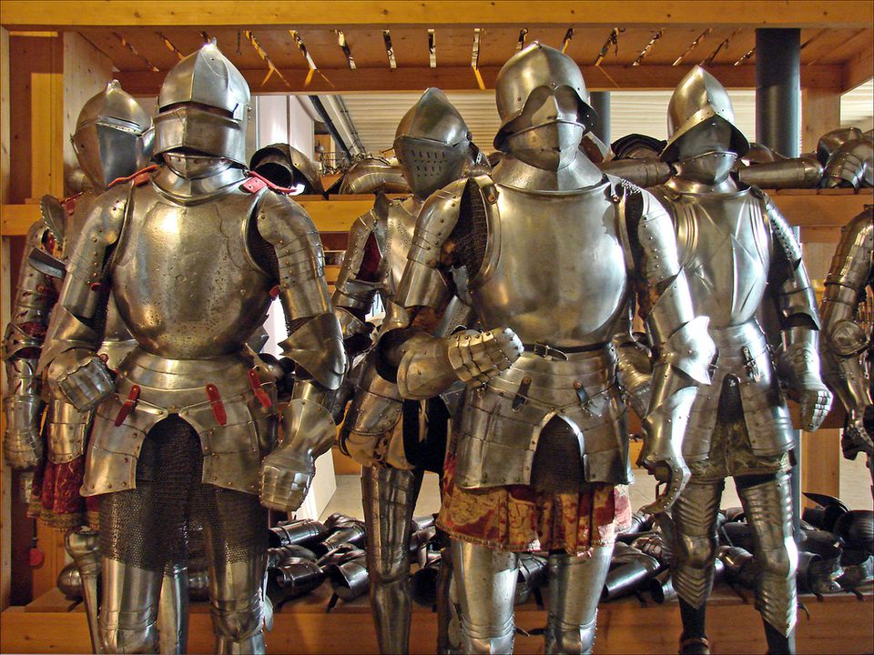 It's not just about guns: the Army Museum also houses impressive collections of historic armor.