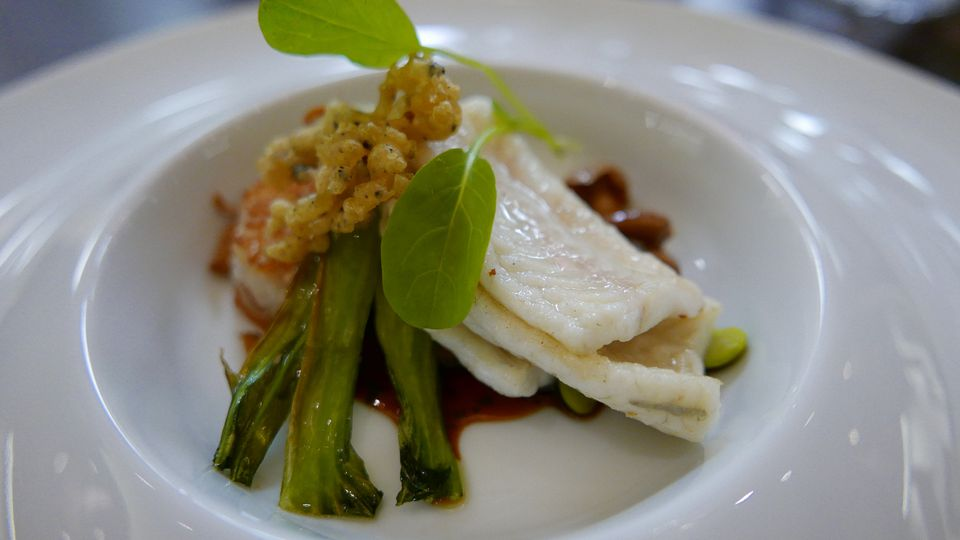 Victoria & Albert's chef's table: Dover Sole with Baby Bok Choy