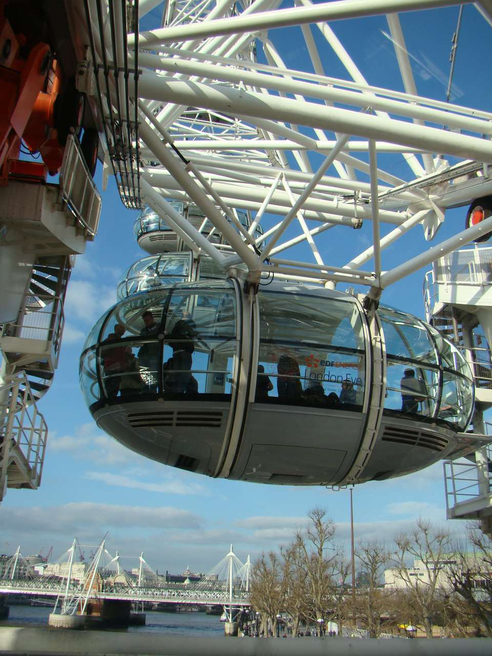 The London Eye is a popular but expensive attraction.