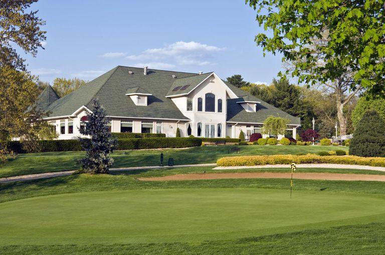 A building on a gold course.
