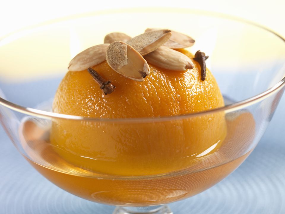 Spiced poached peach