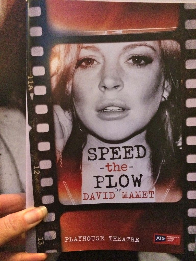 Speed the Plow. David Mamet. Playhouse Theater. London. Sept 2014.