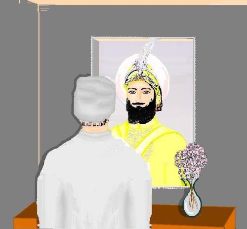 In his reflection, a devotee is granted darshan of Tenth Guru Gobind Singh.