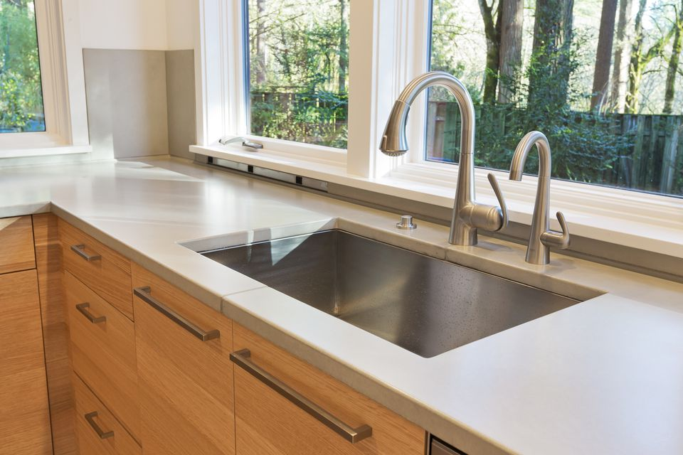 Basic kitchen sink types undermount kitchen sink in a modern kitchen workwithnaturefo