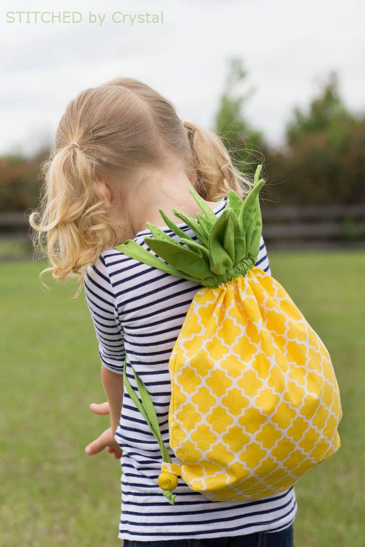DIY Pineapple Drawstring Backpack