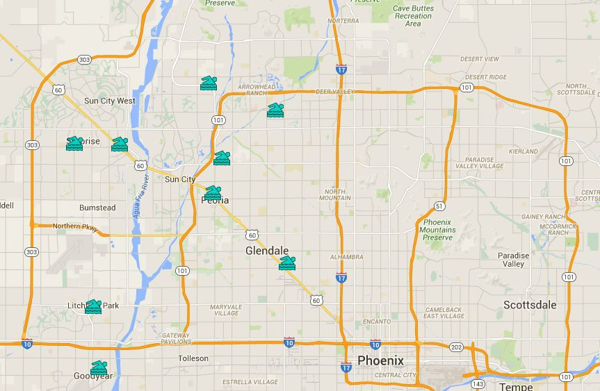 Maps of Public Swimming Pools in Greater Phoenix