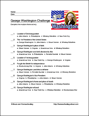 It is a picture of Vibrant George Washington Printable Worksheets