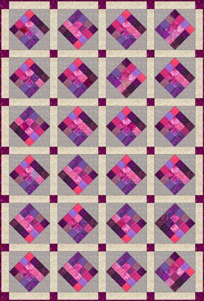 16 Patch Scrap Quilt Block Square Pattern