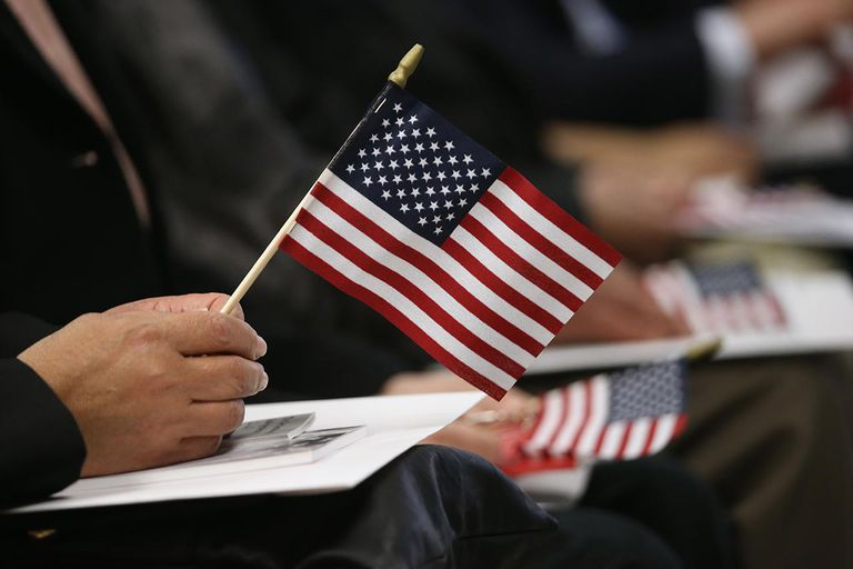 Immigrants Sworn In As American Citizens At Naturalization Ceremony