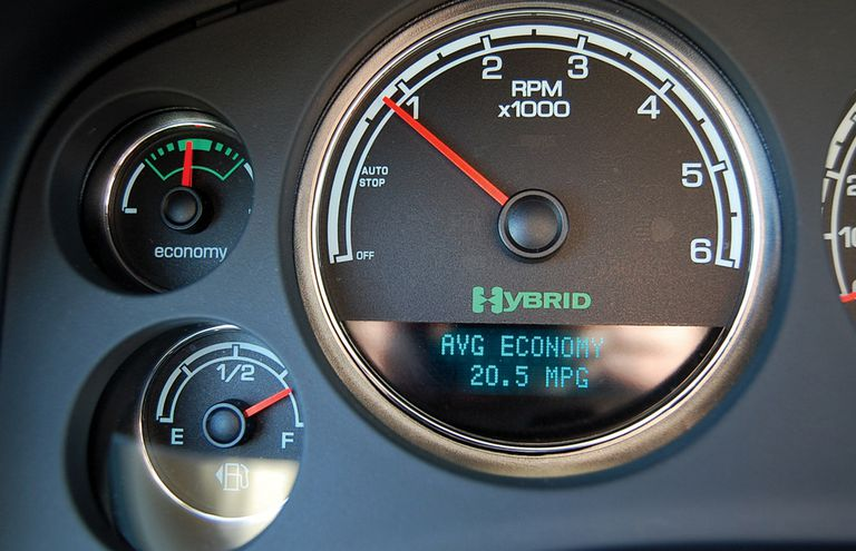 2008 GMC Yukon two-mode fuel economy gauge