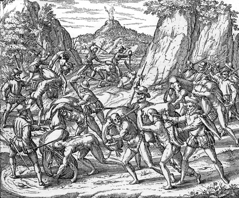 The abuse of Native Americans by Spaniards