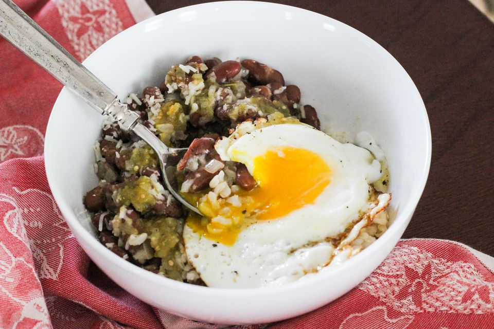 Beans and Rice Breakfast Bowl