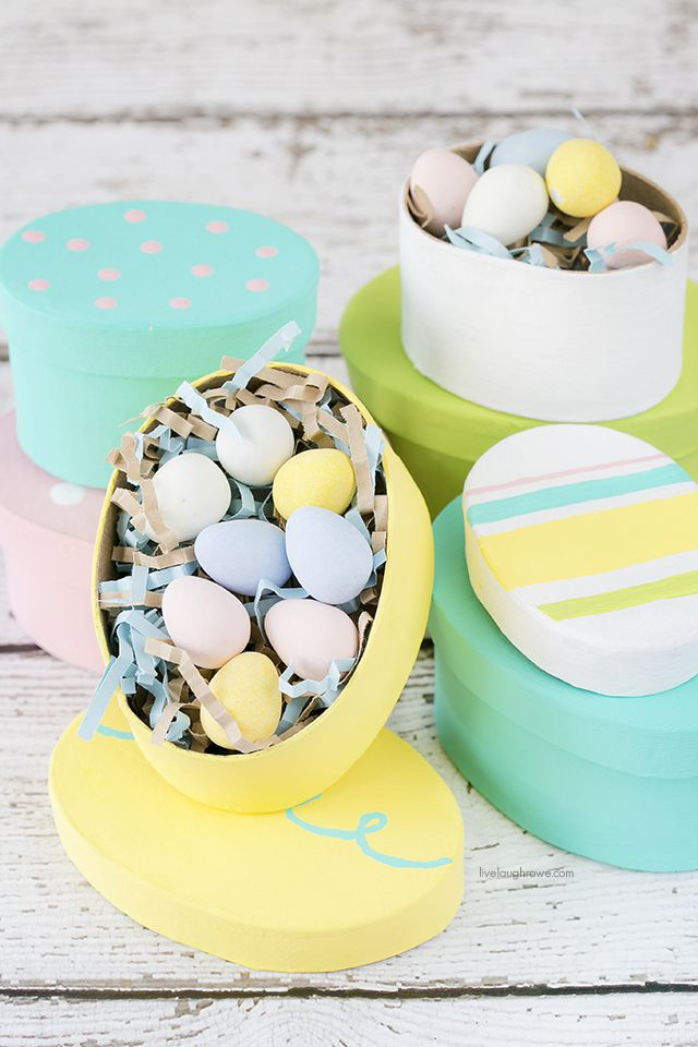 29 easter egg inspired diy ideas diy easter egg gift boxes negle Image collections