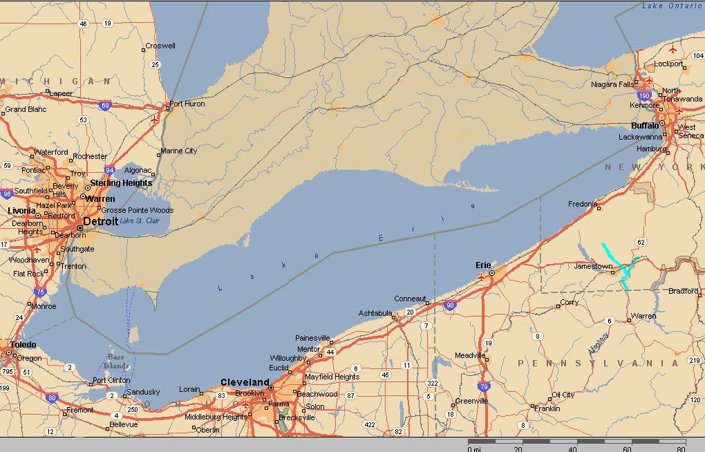 Lake Erie Facts History And Fun - Lake erie on us map