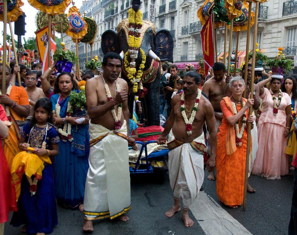 The Ganesh Festival is a popular summer event in Paris's La Chapelle district.