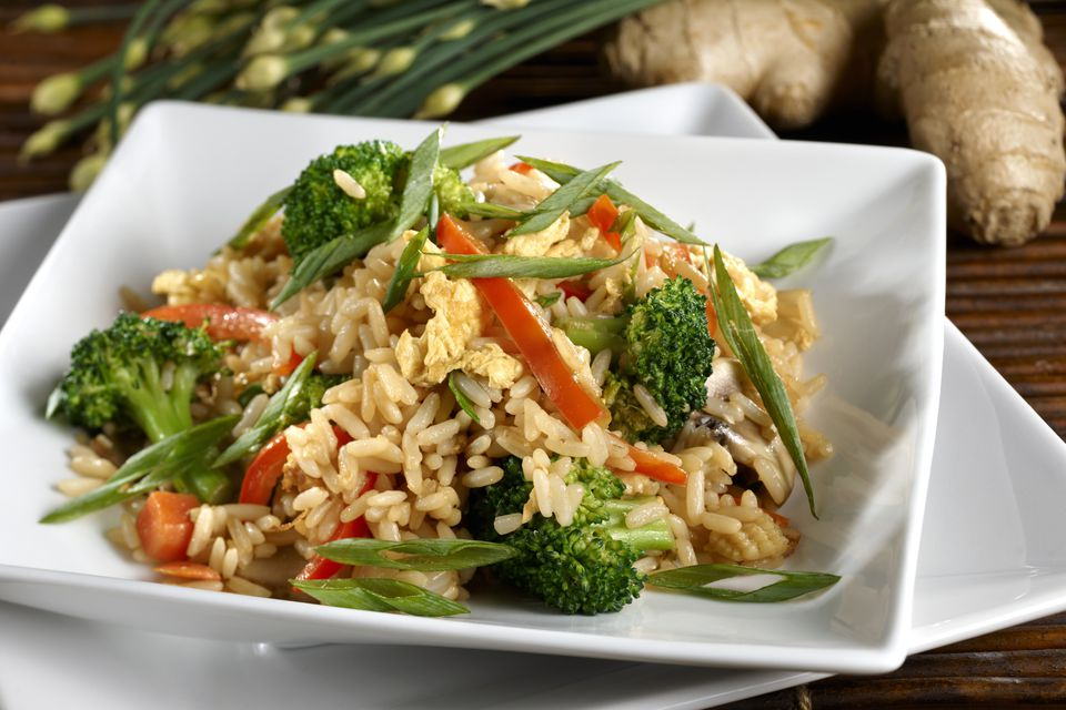 Vegetarian Fried Rice with Vegetables