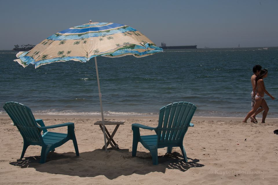 Beach umbrella and chairs for rent