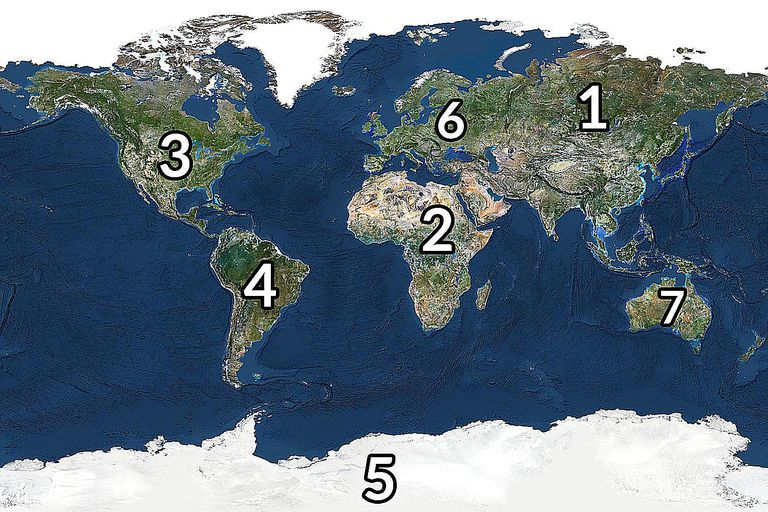The Continents Ranked By Size And Population - List of 7 continents of the world
