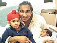 Sikh Mother and Newborn