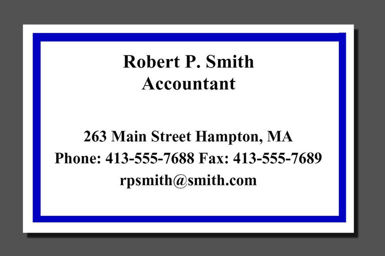 What Information Should Go on a Business Card – Business Card Sample