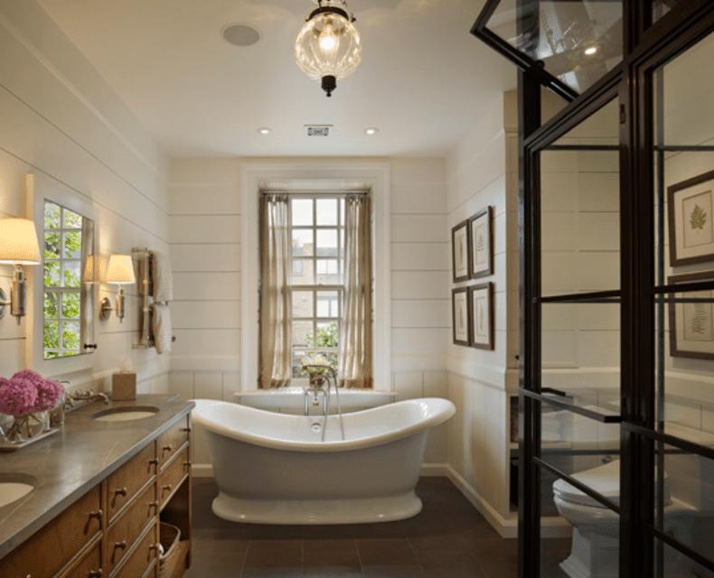 Interior Farmhouse Bathroom 15 inspiring farmhouse bathrooms soaking tub bathroom