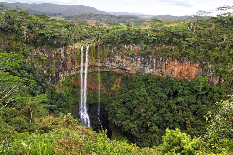 Mauritius waterfall